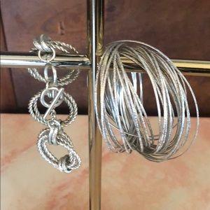 Jewelry - Silver Bangle Bundle